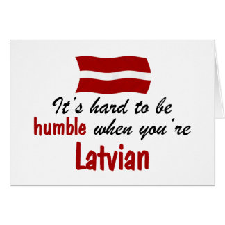Humble Latvian Card