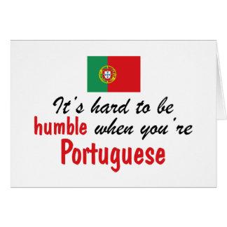 Humble Portuguese Card