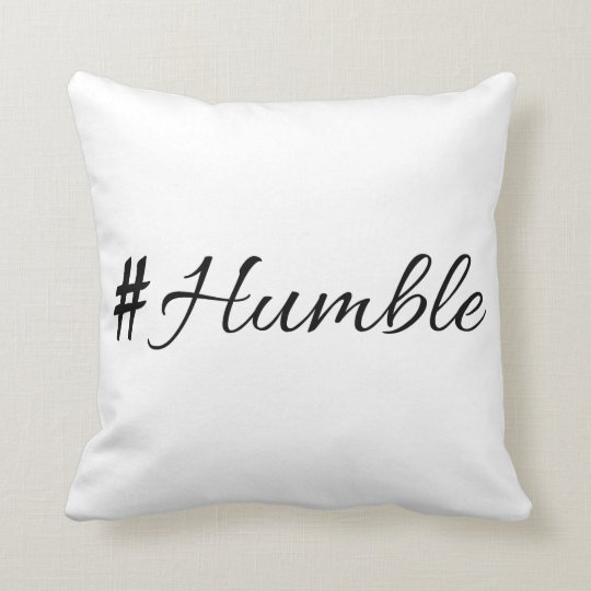 Humble vol 1.0 throw pillow
