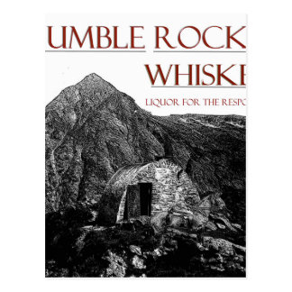 humble wiskey responsible postcard