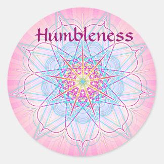 Humbleness (Virtue sticker) Round Sticker