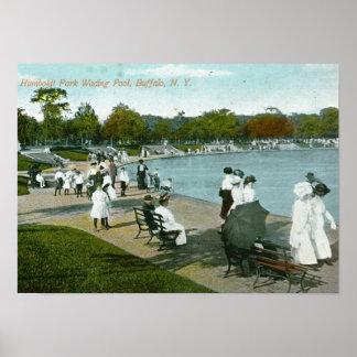 Humboldt Park, Buffalo, NY Vintage Poster