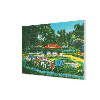 Humboldt Park Floral Emblem View Gallery Wrap Canvas