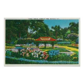 Humboldt Park Floral Emblem View Poster