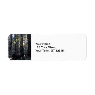 Humboldt Redwoods State Park Return Address Label