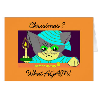 Humbug Cat Card