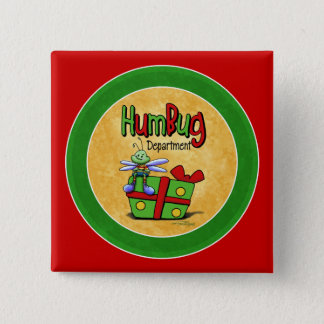 Humbug scrooge 2 inch square button
