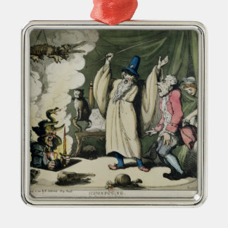 Humbugging or Raising the Devil, 1800 Silver-Colored Square Ornament