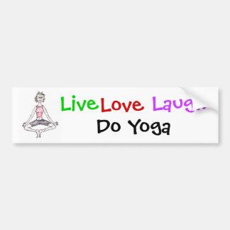 Humerous yoga bumper sticker