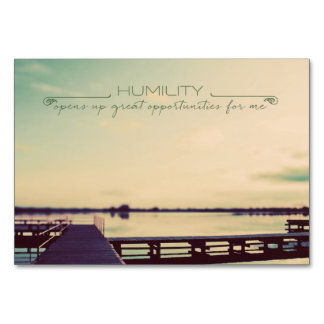 HUMILITY Opens Up Table Card