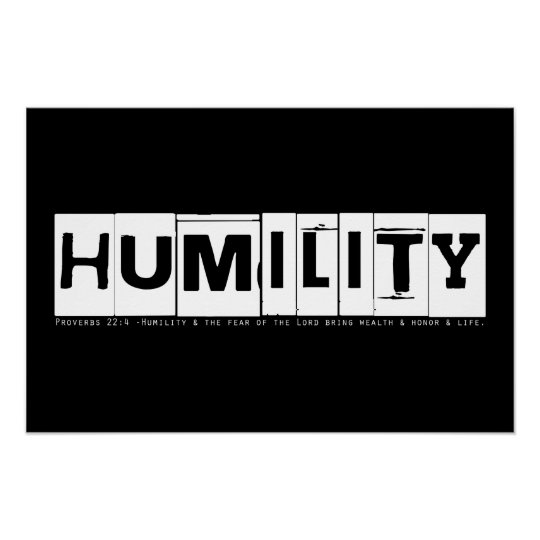 """Humility"" Proverbs Poster"