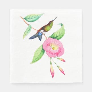 Humingbird And Hybiscus Paper Napkin