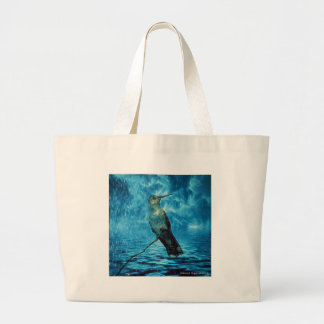 Hummer and the Hurricane Large Tote Bag