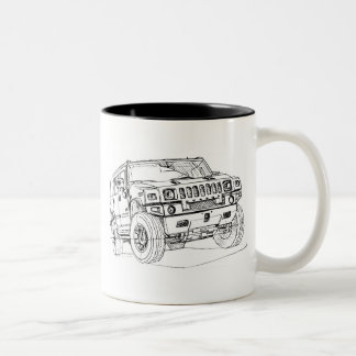 Hummer H2 Two-Tone Coffee Mug