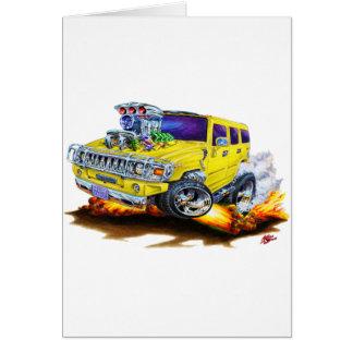 Hummer H2 Yellow Truck Card