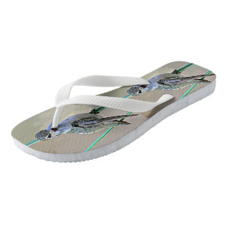 Hummer in Cartoon Women's Flip Flops