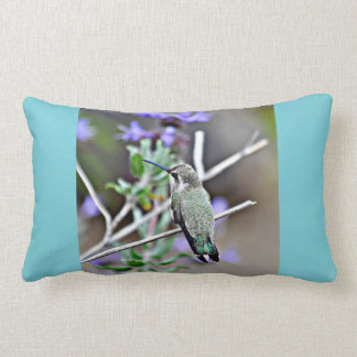 Hummer in Lavender Lumbar Throw Pillow