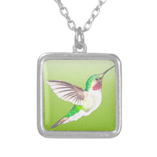 Hummer Lime Silver Plated Necklace