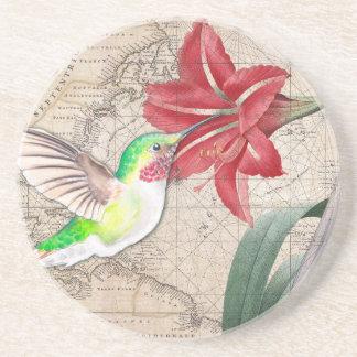 Hummer Map ammaryllis II Coaster