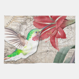 Hummer Map ammaryllis II Kitchen Towel
