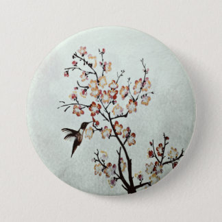 humming-bird 3 inch round button