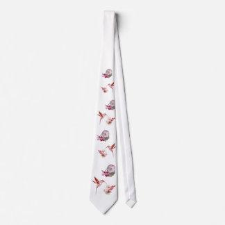 Humming Bird &  Cherry Blossoms Tie