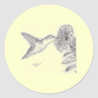 Humming Bird Classic Round Sticker