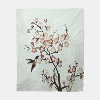 humming-bird fleece blanket
