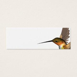 humming bird gold mini business card