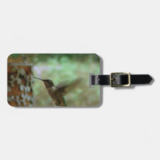 Humming bird in motion luggage tag