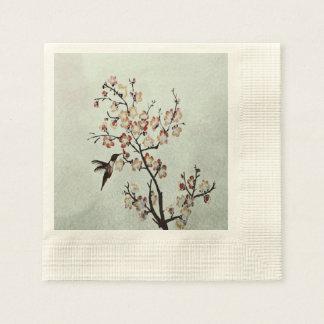 humming-bird paper napkin