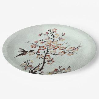 humming-bird paper plate