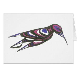 HUMMING BIRD PRPL AND BLUE CARD