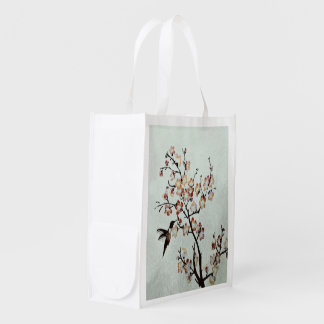 humming-bird reusable grocery bag