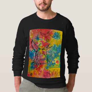 humming bird water color shirts