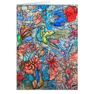 Humming Bird Watercolour Card