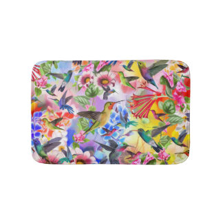 Humming Birds Bath Mat