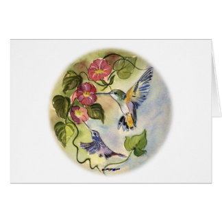 Humming Birds Card