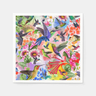 Humming Birds Disposable Napkin