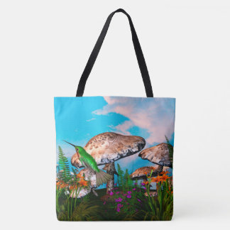 Humming Hideaway Nature Fantasy Tote Bag