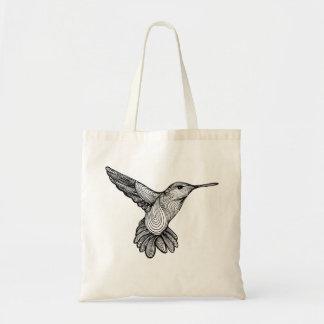 Humming-print Tote bag ( Natural )