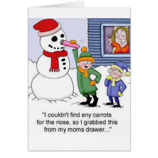 Humming Snowman Card
