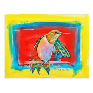 HUMMINGBIRD  ©2010 SylviART™ Postcard