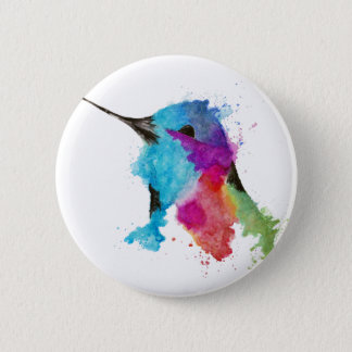 hummingbird 2 inch round button