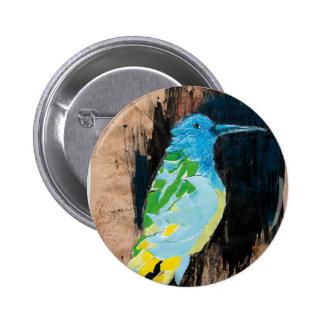 hummingbird 2 inch round button