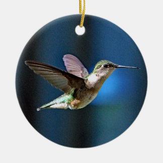 Hummingbird 424 round ceramic ornament