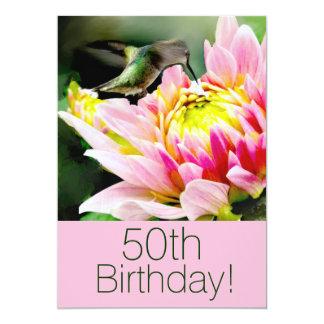 Hummingbird 50th Brithday Party Invitation
