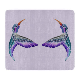 Hummingbird Abstract Watercolor Cutting Board