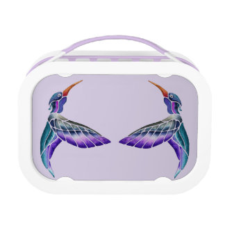 Hummingbird Abstract Watercolor Lunch Box