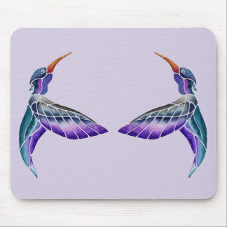 Hummingbird Abstract Watercolor Mouse Pad